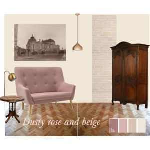 Dusty rose and beige