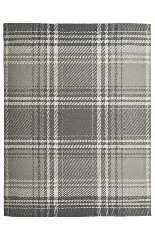 Buy Wool Cosy Grey Check Rug from the Next UK online shop