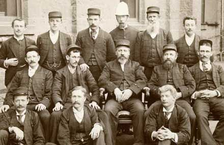 This is a photo of the staff at the State library of Victoria circa 1893.