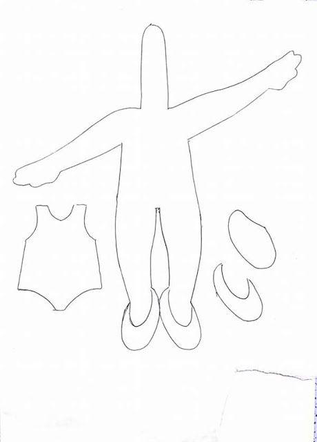 Eu Amo Artesanato: Bailarinas de feltro com molde