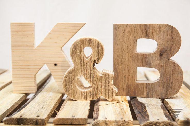 Drewniana litera - surowe drewno - PiatyElement - Litery i napisy