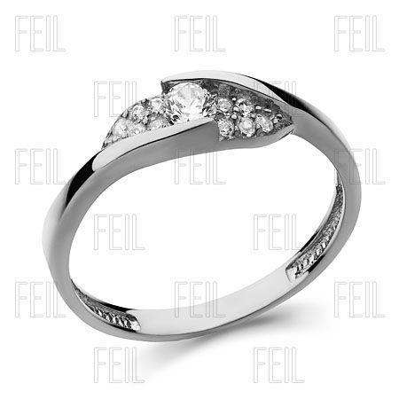 Fehér arany eljegyzési gyűrű WEFAu-110