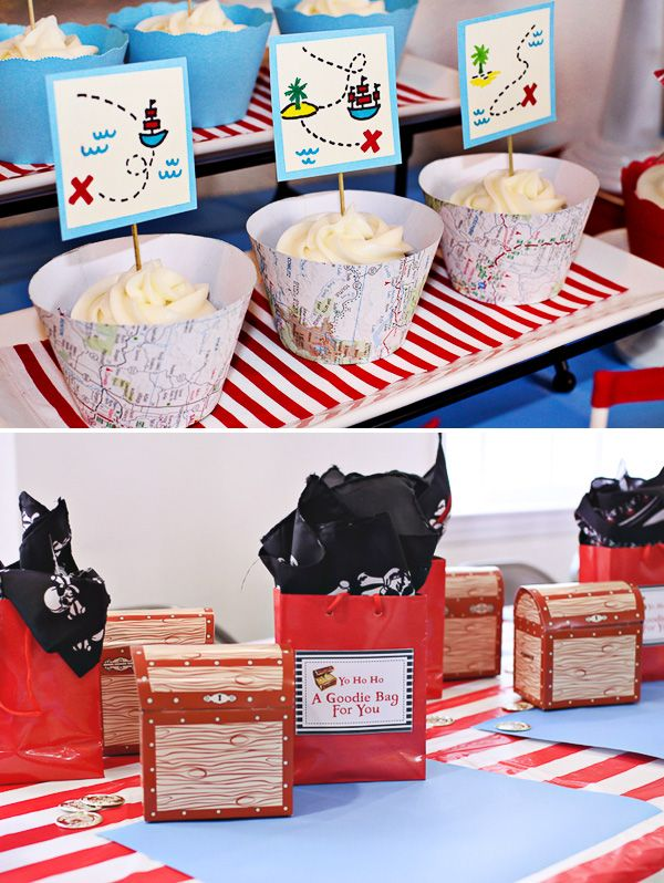 Red & Blue Boys Pirate Birthday Party