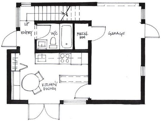 First Level Floor Plan for Small House I would make garage