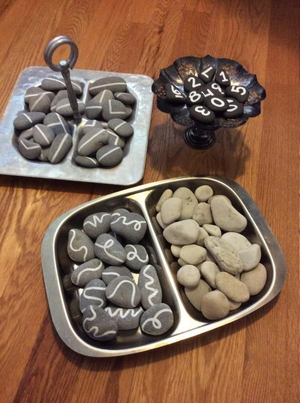 "Adding embellishments to stones - from Marnie Penney (MP_Kinders on Twitter) ("",)"