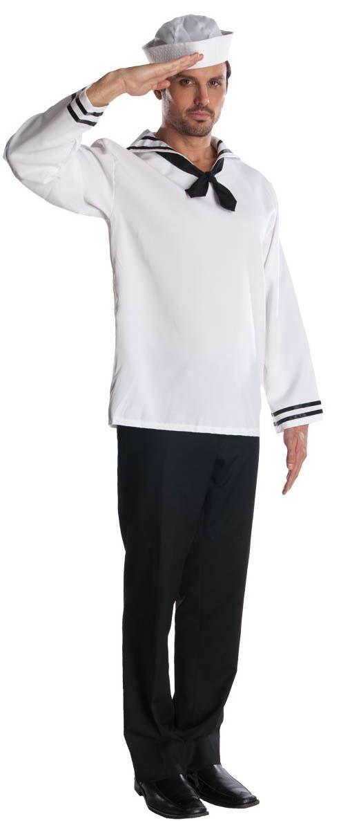 Sailor Halloween Costume for Men White HalloweenCostumes4u.com $23.74