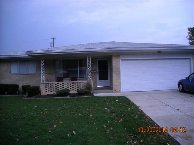 Nice brick ranch with attached garage and covered porch located on quite street near cul-de-sac family room with fireplace large kitchen with dinning area living room with hardwood floors glass block  basement windows close to GM Tech center close to x way Macomb Community college shopping and more. Appliances included. Freshly painted. Consider all reasonable offers Hurry it will not last