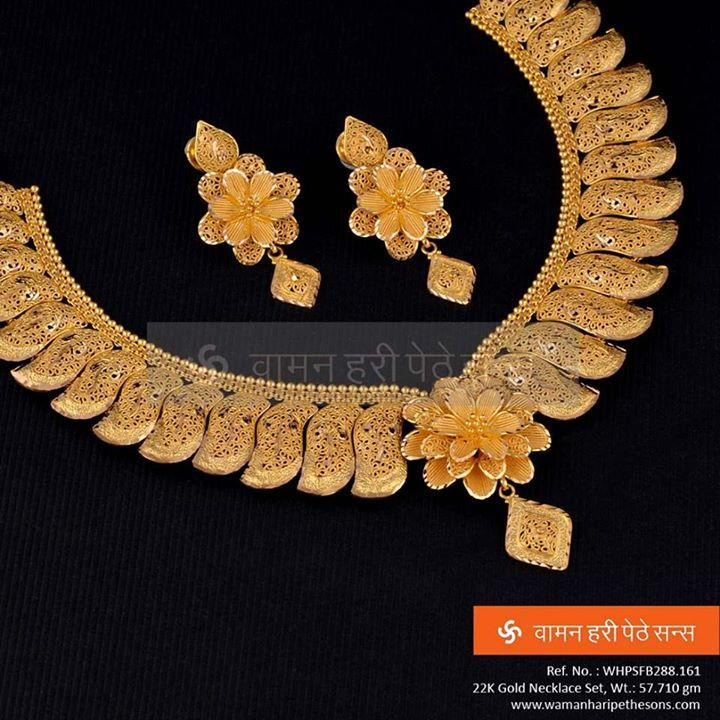 #Traditional #Beautiful #Gold #NecklaceSet for the #Elegant Look you want and #Desire.