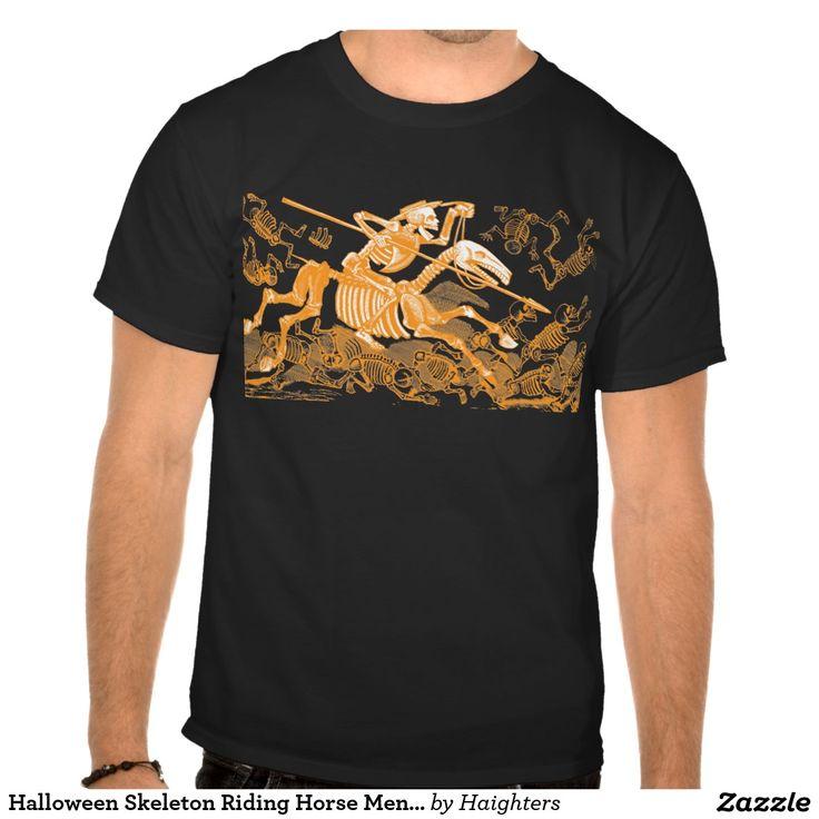 Halloween Skeleton Riding Horse Men's T-shirt
