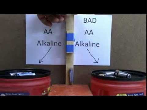 A Very Simple Way to Test if Your Alkaline Batteries are Dead or Not
