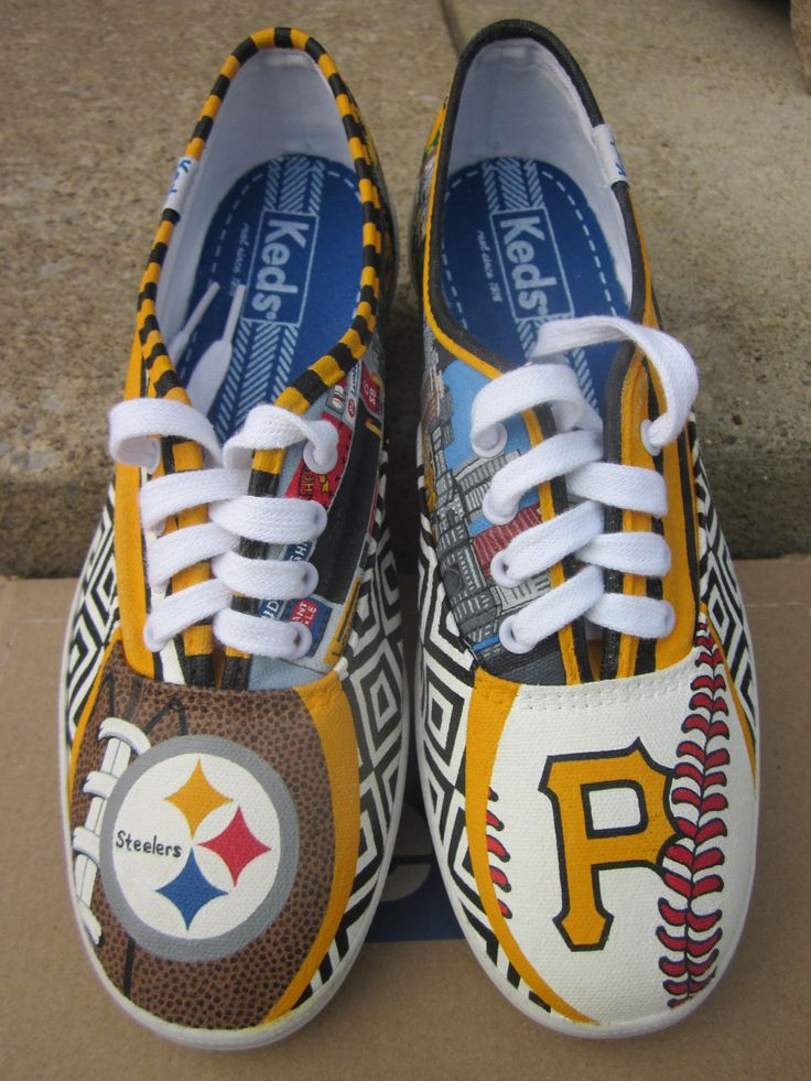 Pittsburgh Pirates and Steelers Custom Keds