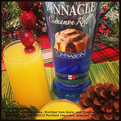 #9 is the classic Pinnacle® Mimosa 1 part Pinnacle® Cinnabon® Vodka 1 part Fresh OJ 2 parts Champagne Shake first two ingredients with ice and strain into a chilled champagne Flute and top with champagne. Garnish with some cranberries.: Alcohol Drinks, Chill Champagne, Cinnabon Vodka, Champagne Shakes, Adult Drinks, Classic Pinnacle, Cocktails, Cranberries, Champagne Flute