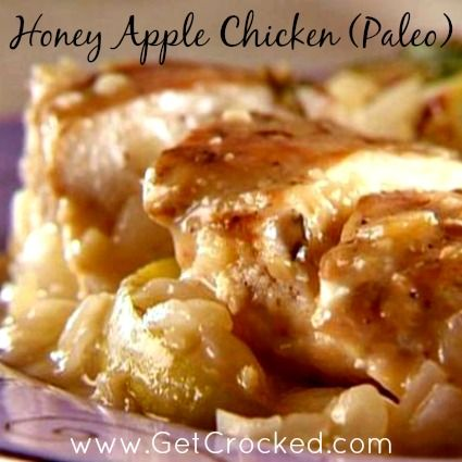 Paleo:: Slow Cooker Honey Apple Chicken - Delicious AND healthy!