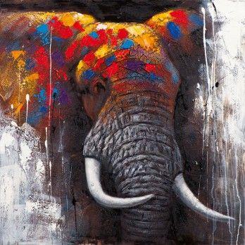 20 beste idee n over olifant schilderijen op pinterest - Idee schilderij living ...