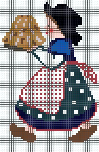 0 point de croix alsacienne et kouglof - cross stitch alsatian and Kugelhopf