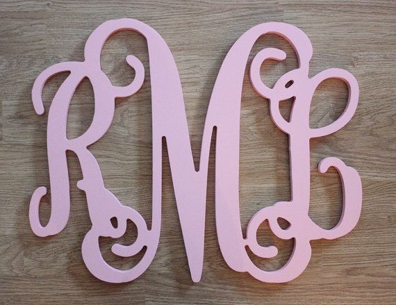 "15"" x 19"" Wall Monogram - Painted Baltic Birch Wooden Monogram Wall Decor - Wall Decor - Personalized Letters - Wedding Gift, Door Wreath on Etsy, $26.00"