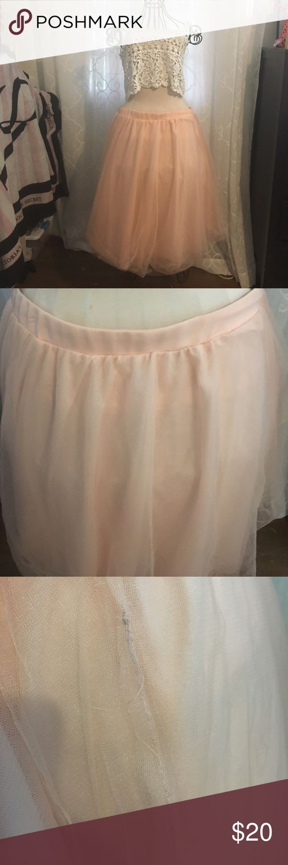 Pink tutu skirt 3x great for pictures and costume. Slight Frey in tutu material but unnoticed from far away never worn Charlotte Russe Skirts Circle & Skater