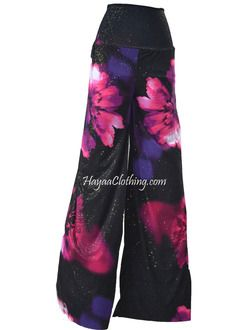 Silver Dust Pink Floral Palazzo Pants