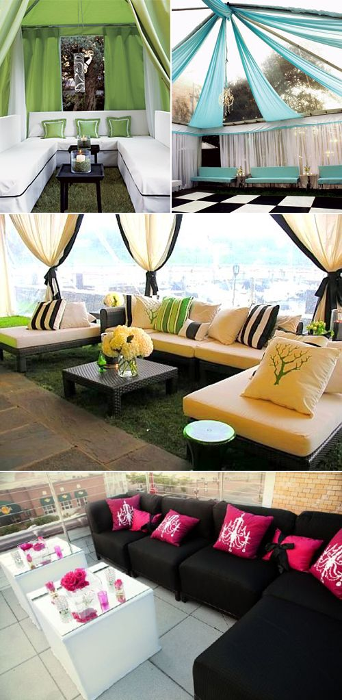 Great color schemes in lounge environment: Idea, Outdoor Seats, Outdoor Furniture, Decoration, Outdoor Lounges, Weddings Receptions, Color Combinations, Lounges Furniture, Lounges Area