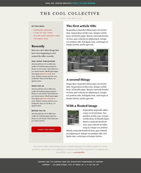63 best Free Email Newsletter Resources images on Pinterest - online newspaper template