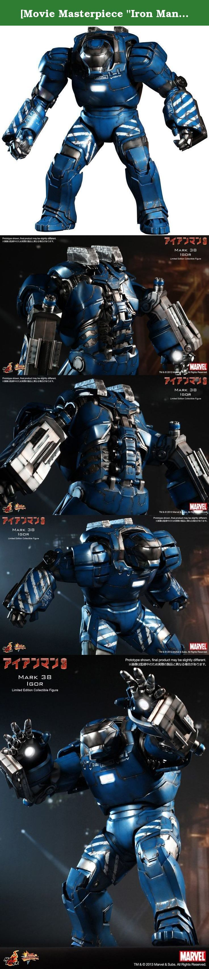 """[Movie Masterpiece """"Iron Man 3"""" 1/6 Scale Action Figure Iron Man Mark 38 (Igor) (second shipment). Scale 1/6 Yes battery use Yes, battery included The main material plastic body size: about 43 cm in height Target Gender: Boys From 15 years old: Age Battery Type: button battery use Scale 1/6 Yes battery use Yes, battery included The main plastic material Hot Toys in """"Movie Masterpiece"""" series, the new Power Suit action blockbuster movie of the Marvel """"Iron Man 3"""" lineup. Iron Man mark 38..."""