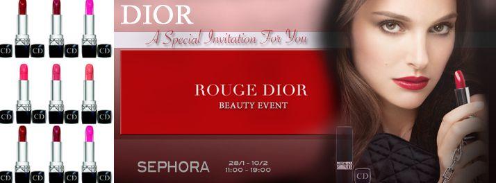 DIOR Make-up Event at SEPHORA  Invitation On HarrieAppel.com