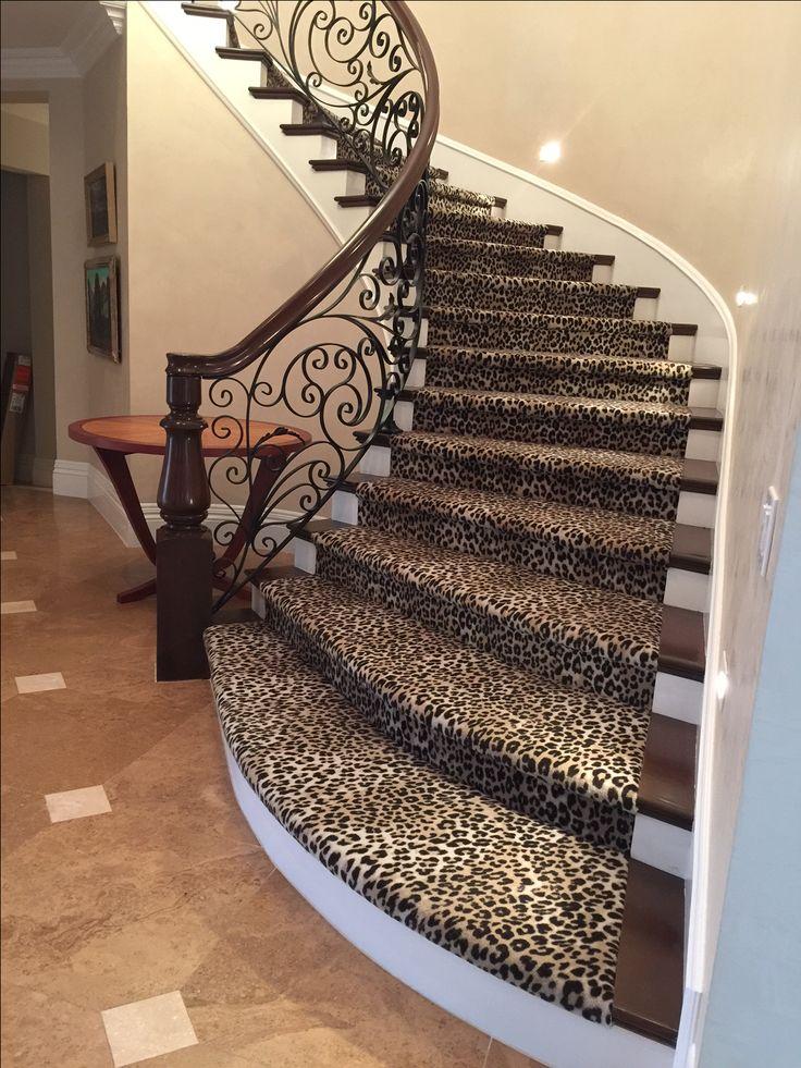 36 best animal print carpet rugs runners images on for Leopard print carpet stair runner