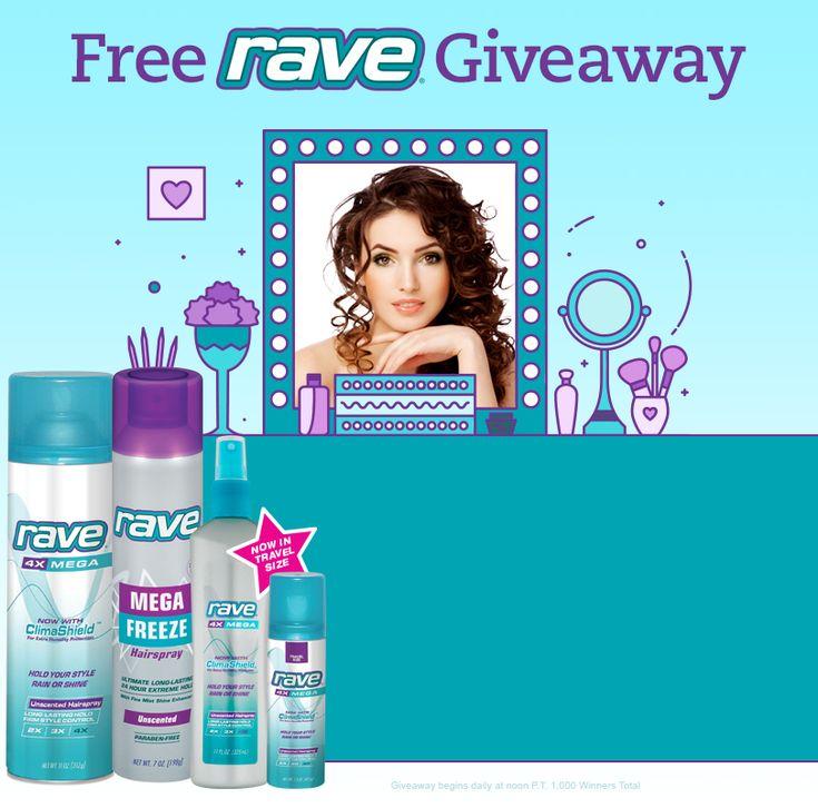 Win FREE Rave Hairspray! (1,000 Winners)