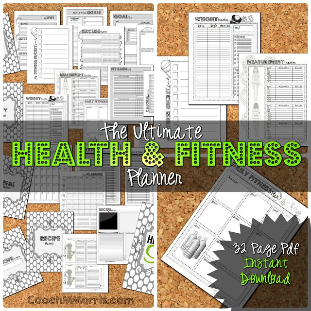 The ULTIMATE Health and Fitness Planner, Just UPDATED my binder to the NEW style! I am seriously ADDICTED to using binders!