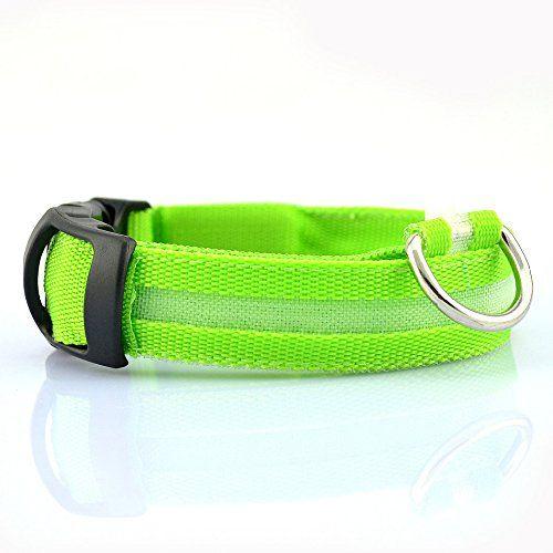 Ericoy LED Halsband Hundehalsband Leuchtband Leuchtschlauch Hund Leinen Sicherheitshalsb�nder