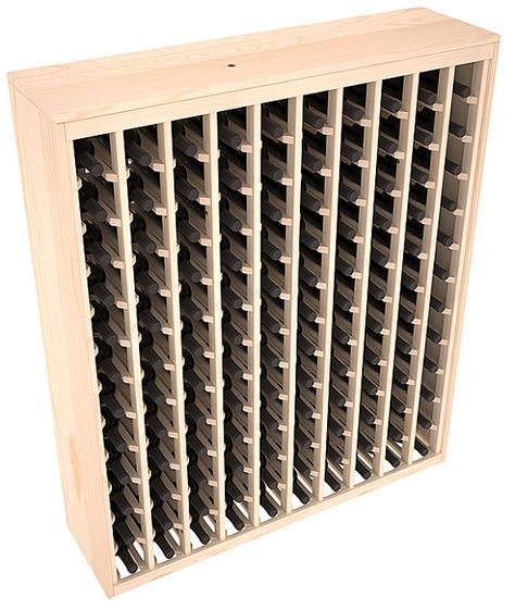 This wooden wine rack functions well as either a freestanding wine rack furniture or as part of a complete wine cellar design. Solid top and side enclosures promote the cool and dark storage area necessary for aging your wine properly. Your satisfaction and our racks are guaranteed.