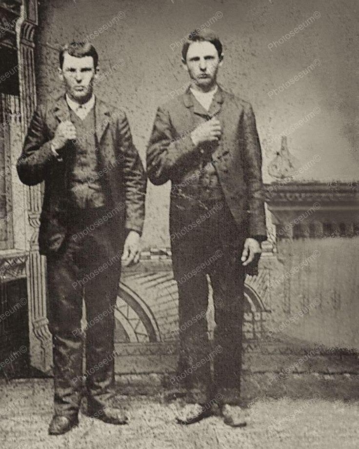 Jesse James & Frank James Vintage 1872 8x10 Reprint Of An Old Photo