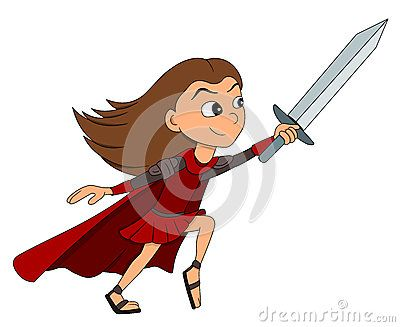 Girl Warrior Cartoon - Download From Over 61 Million High Quality Stock Photos, Images, Vectors. Sign up for FREE today. Image: 92227799