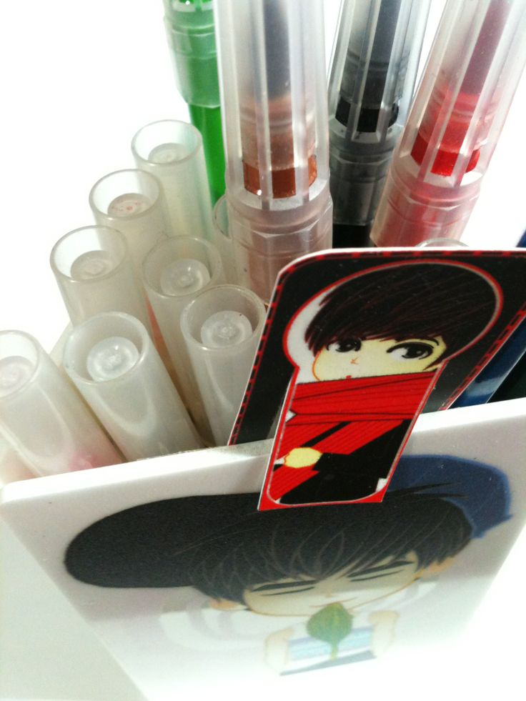 pencil BOX | standing CARD acrylic | created by +RATNA HAR (Little Lumut)