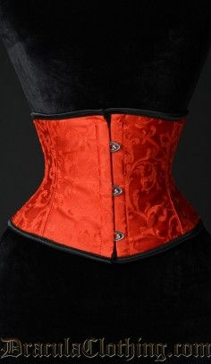Red Brocade Waist Cincher