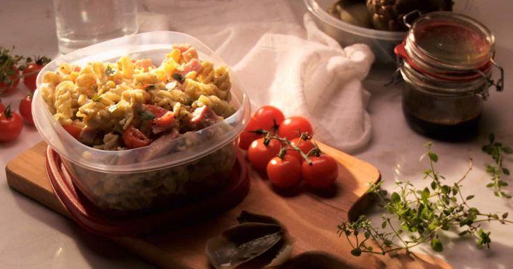 Découvrez cette recette de Salade de pâtes et artichauts vinaigrette pour 4 personnes, vous adorerez!