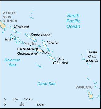 Location of Honiara.
