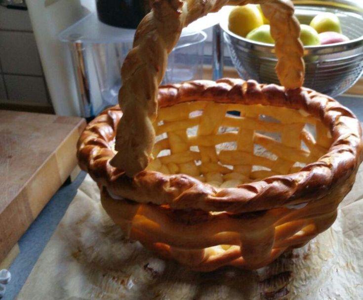 Rezept Korb aus Hefeteig von attu - Rezept der Kategorie Backen süß