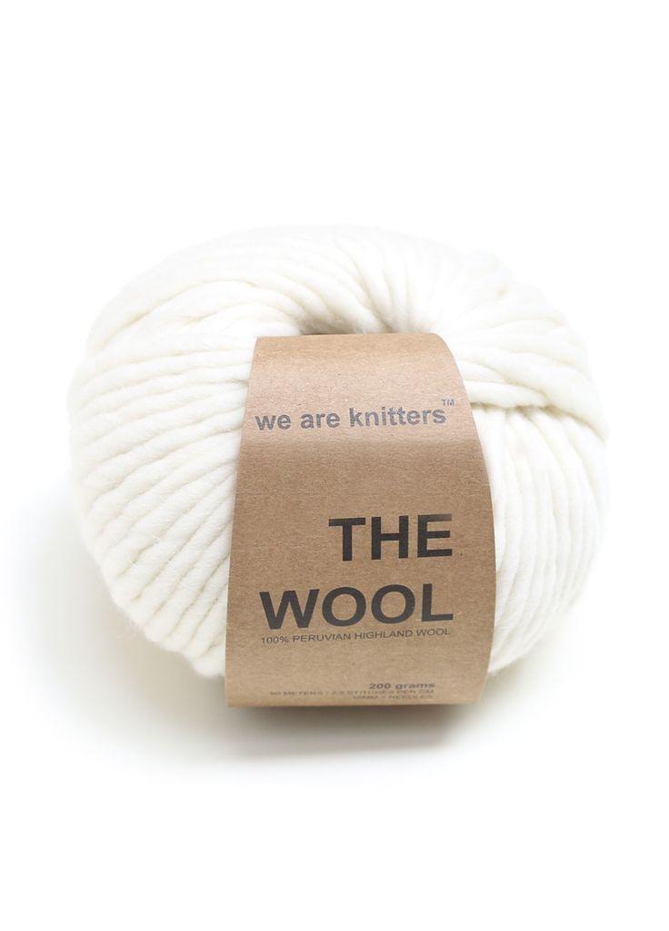 100% Wolle aus Peru Naturweiß
