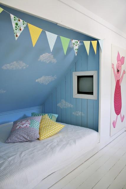 Soverom Med Skråtak : Innebygd seng skr?tak kids room tips nice and ...