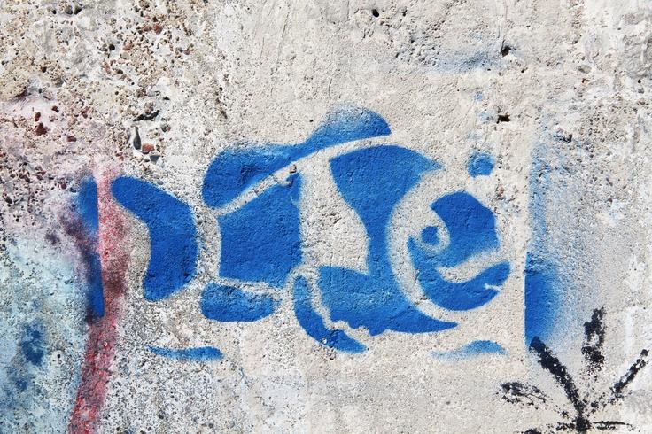 Kala Vesitornin seinässä Forssassa.