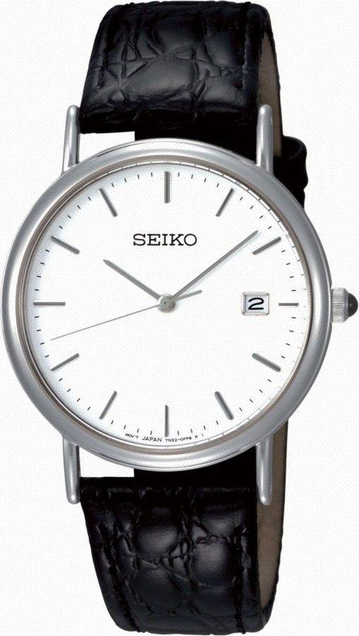 Seiko Herenhorloge SKK693P1. Kaliber 7N32. Een klassiek, al jaren bestaand, model in de Seiko collectie. Strak en niet te opvallend. Het horloge heeft een zwarte lederen band, is (spat)waterdicht en weegt slechts 30 gram. Dit klassieke en toch moderne horloge is voorzien van Hardlex glas. https://www.timefortrends.nl/horloges/seiko.html