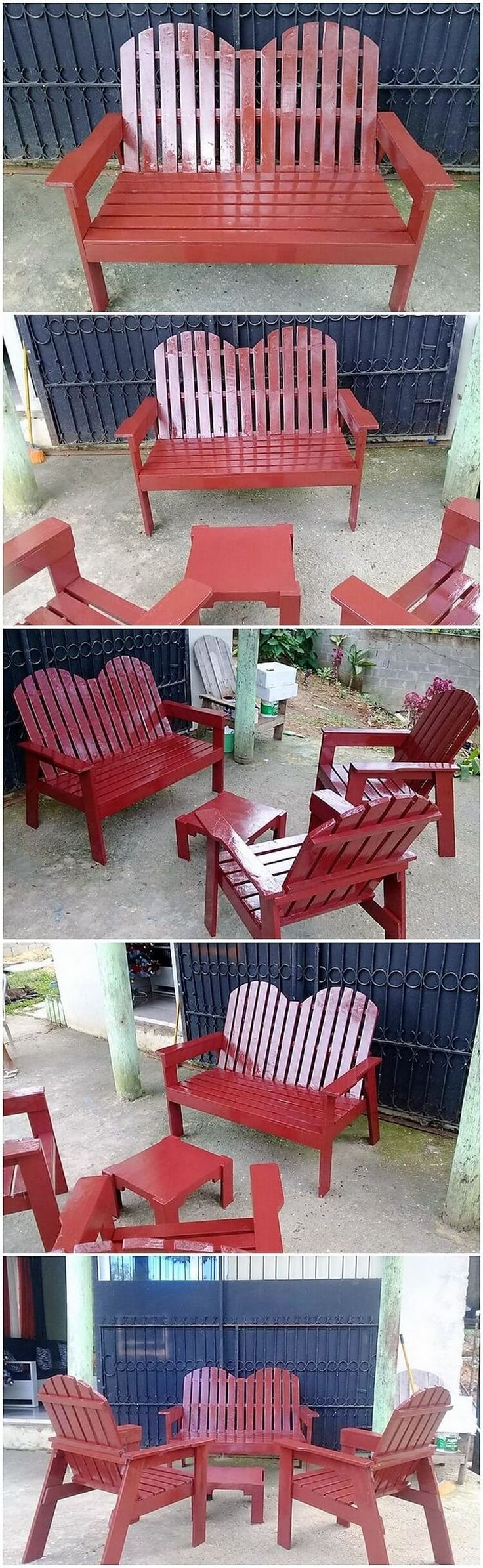 Clever Ideas For Reusing Wasted Wood Pallets. Pallet Outdoor Furniture Set