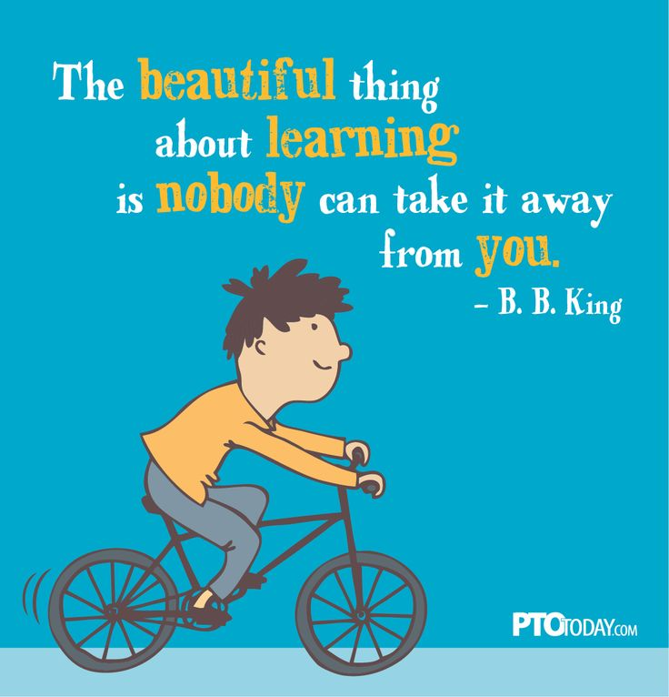 "Great classroom quote: ""The beautiful thing about learning is nobody can take it away from you."" -B.B. King"