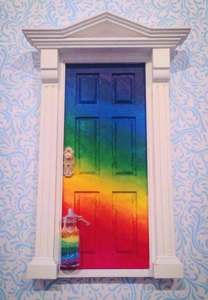 Rainbow fairy door by Pretty bürd www.facebook.com/prettyburd
