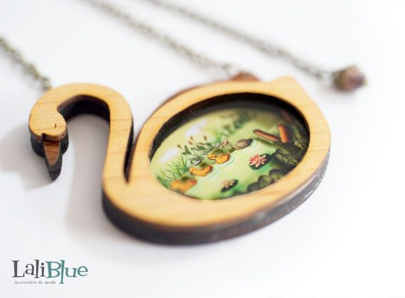 The Ugly Duckling  necklace. / Collar El patito by LaliblueShop