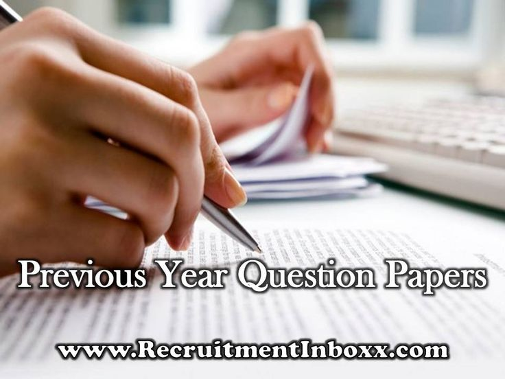 Previous Year Question Papers