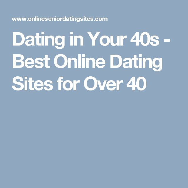 Dating in your forties