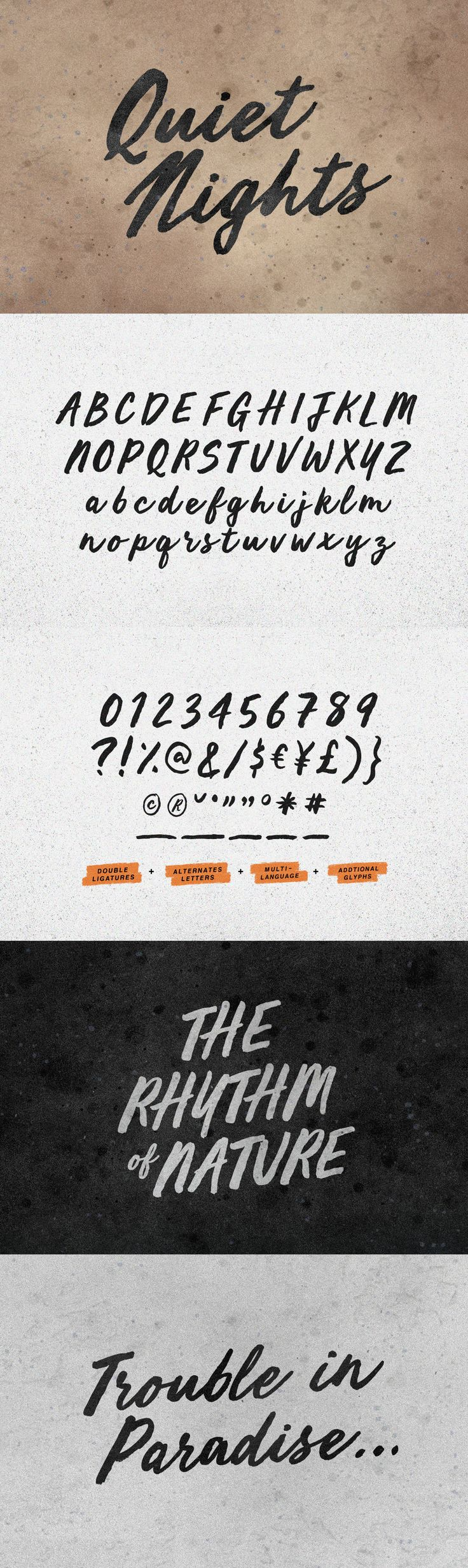 Quiet Nights - Desktop Font & WebFont - YouWorkForThem