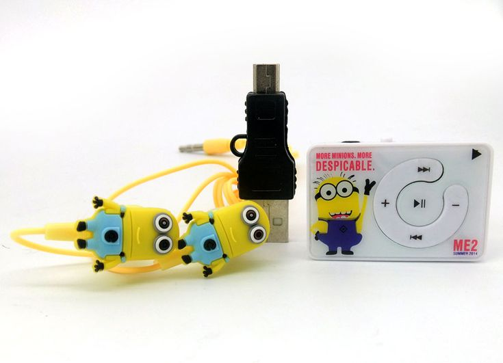 gift 2016 new lovely cartoon Despicable me mimi mp3 music player Minions players No accessories. Click visit to buy